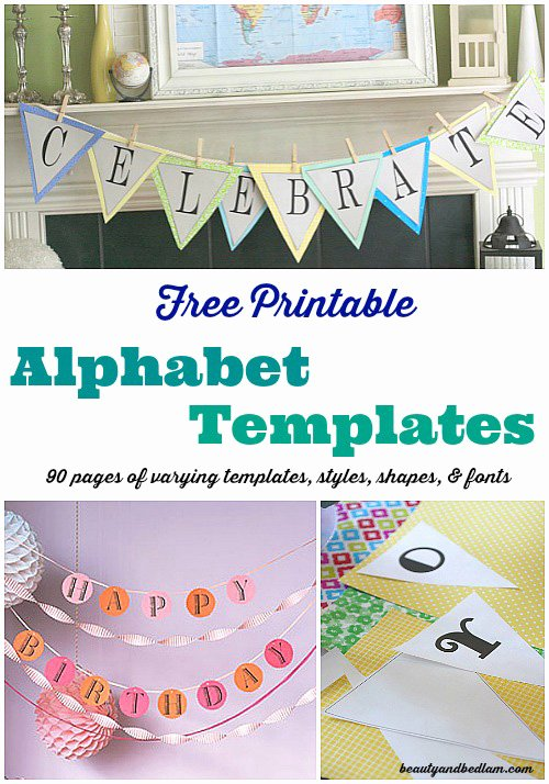 Printable Banner Template Free Unique Free Printable Banner Templates Alphabet with Different