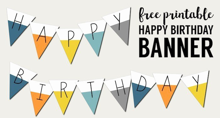 Printable Birthday Banner Template Beautiful Free Printable Happy Birthday Banner Paper Trail Design