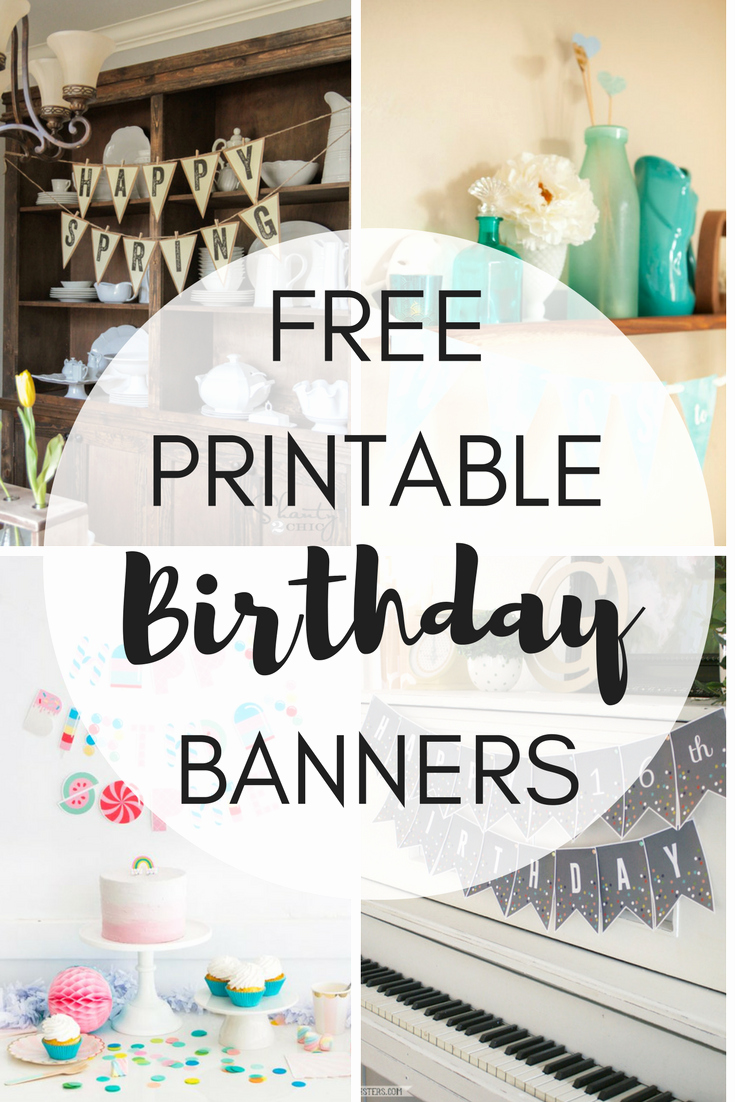 Printable Birthday Banner Template Elegant Free Printable Birthday Banners the Girl Creative