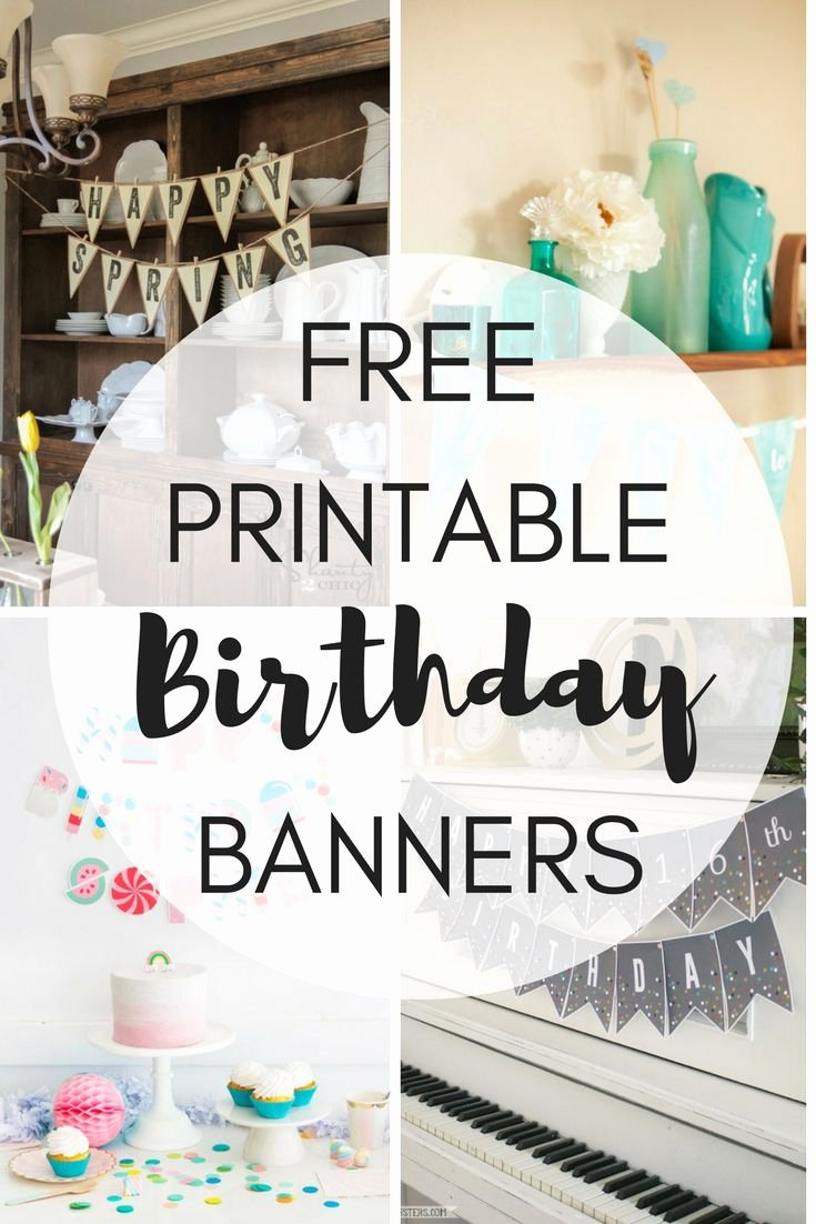 Printable Birthday Banner Template Fresh 16 Best Free Printables Images On Pinterest
