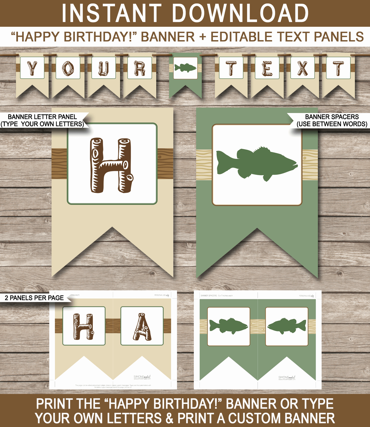 Printable Birthday Banner Template Inspirational Fishing Party Banner Template Birthday Banner