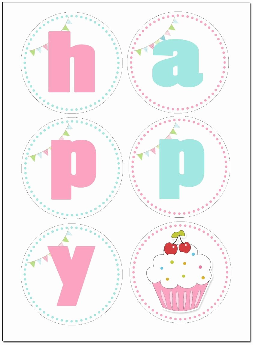 Printable Birthday Banner Template Inspirational Printable Birthday Banner On Pinterest