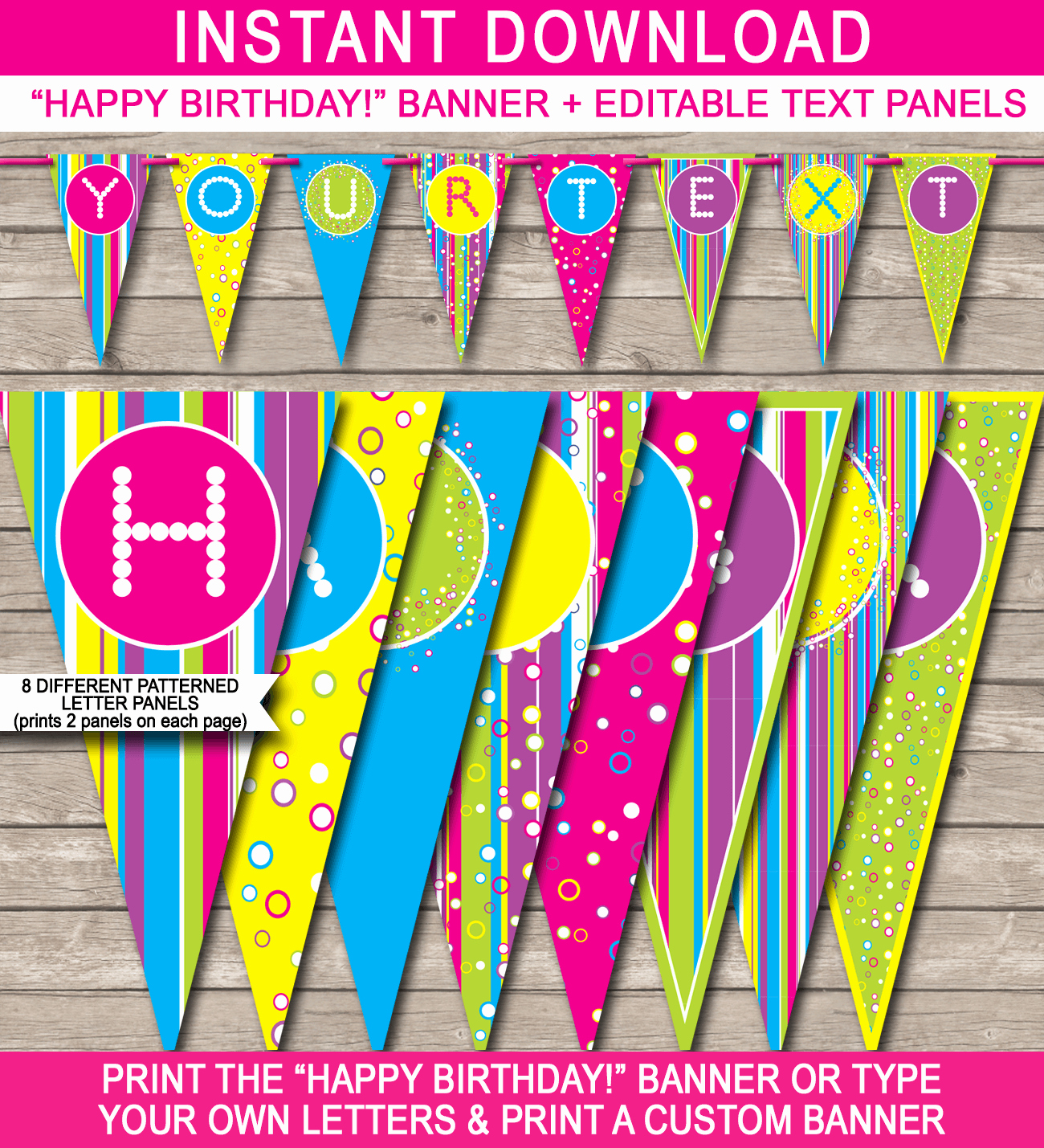 Printable Birthday Banner Template Luxury Colorful Banner Template
