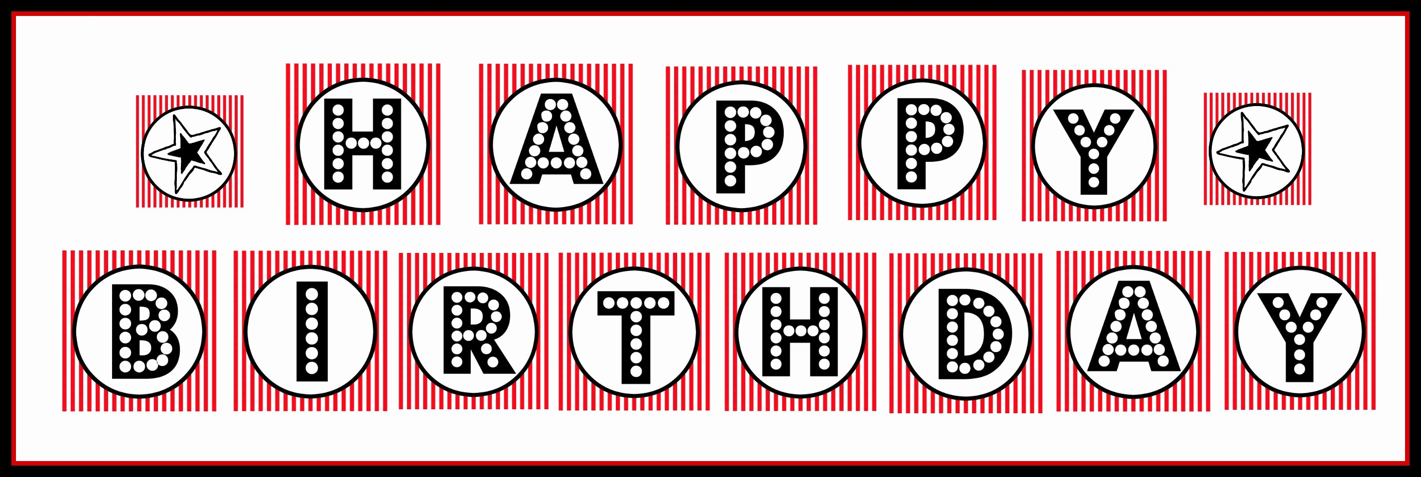 "Printable Birthday Banner Template Luxury ""happy Birthday"" Banner – Free Printable Download"