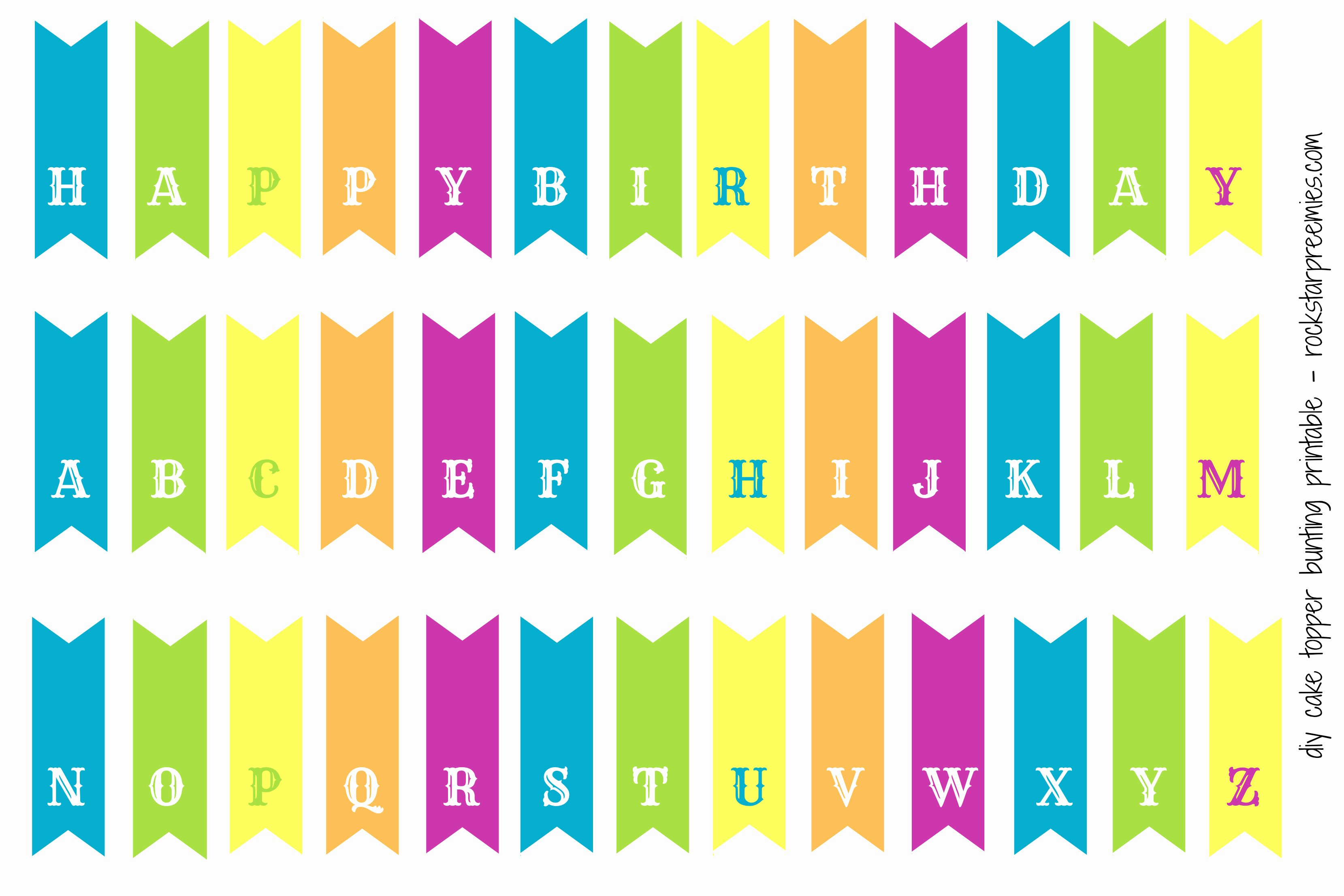 Printable Birthday Banner Template Luxury Happy Birthday Bunting Printable Printable 360 Degree