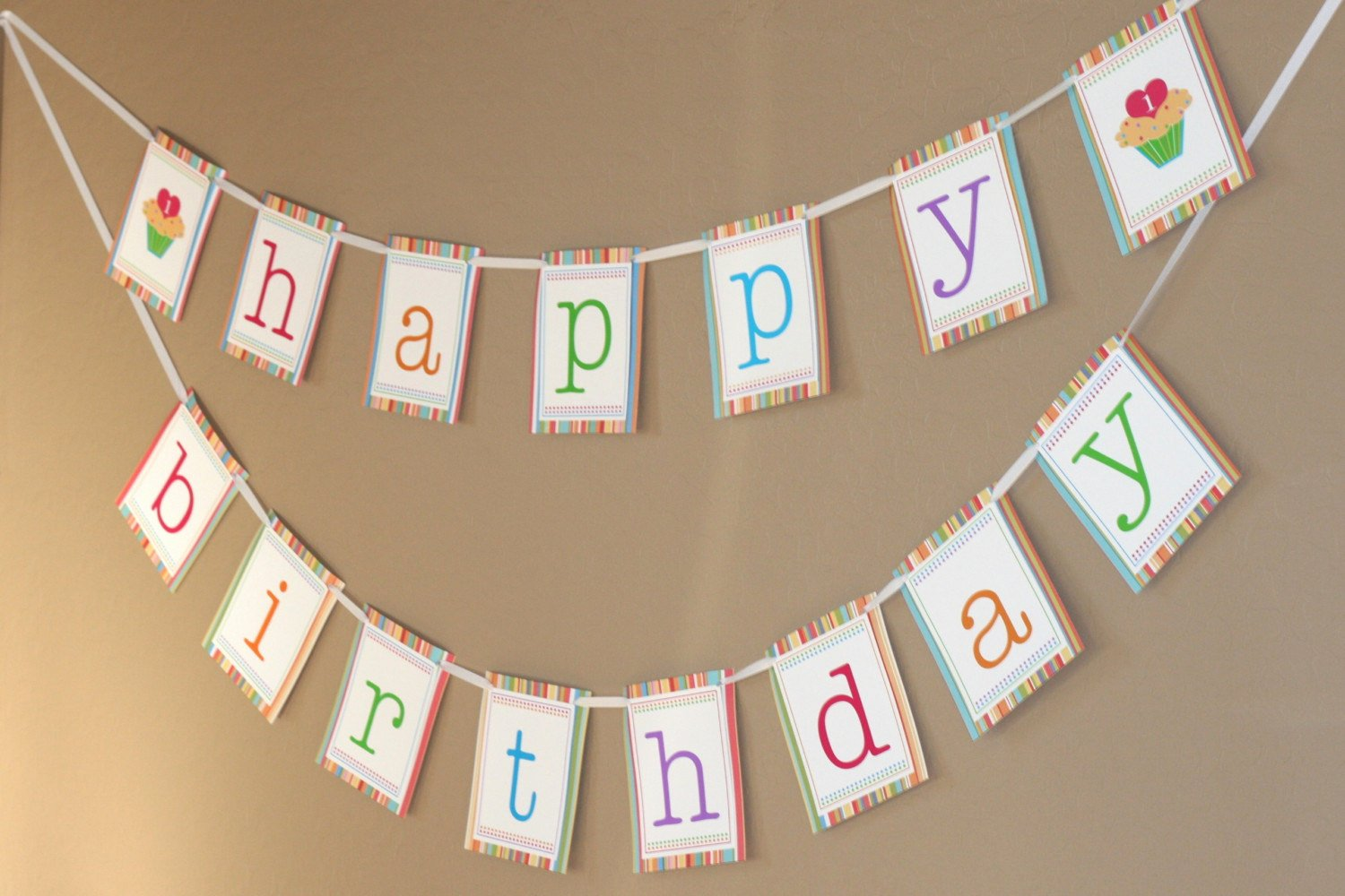Printable Birthday Banner Template New Printable Happy Birthday Banner Sweet Cupcake Collection In