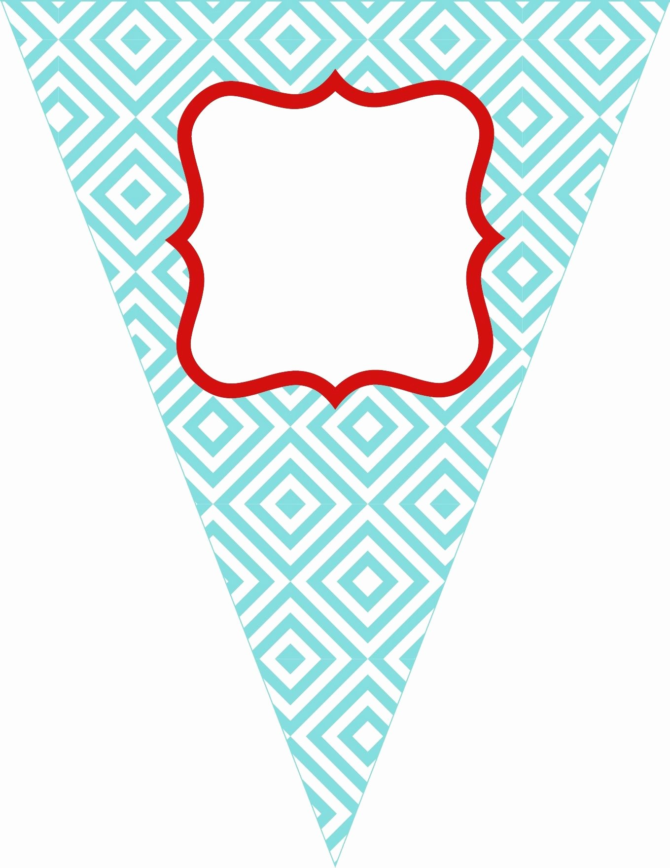 Printable Birthday Banner Template Unique Free Printable Bunting Love these Colors the Colors I