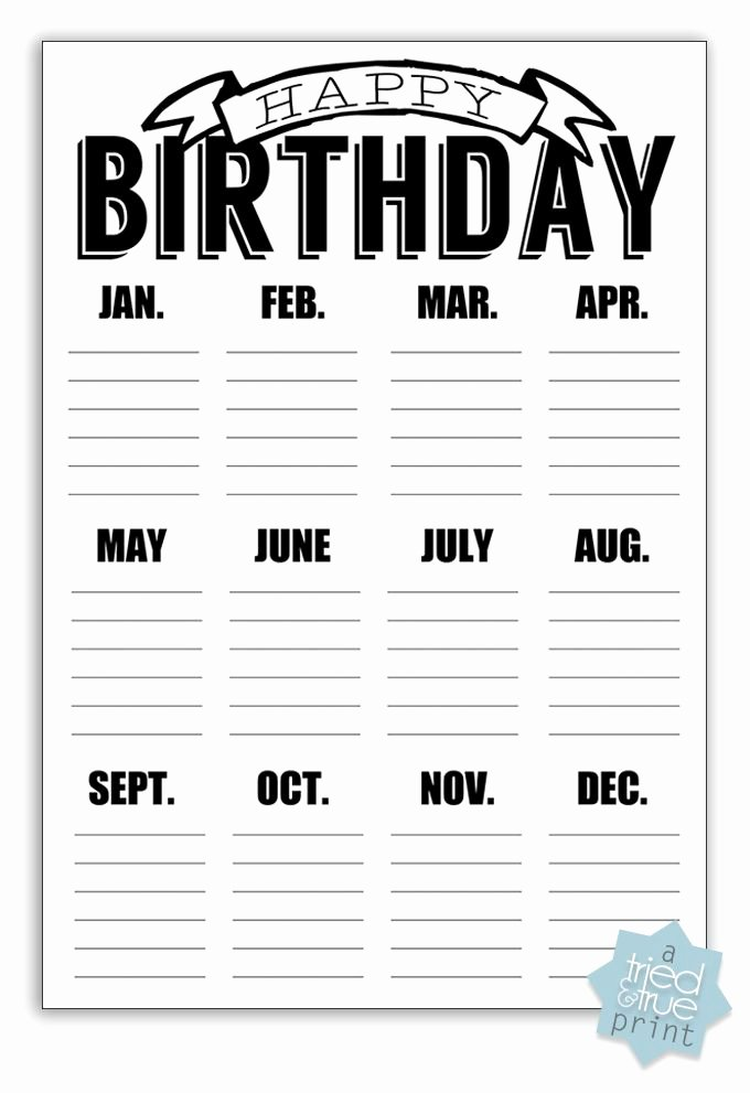 Printable Birthday Calendar Template Best Of 17 Best Ideas About Birthday Calendar Classroom On
