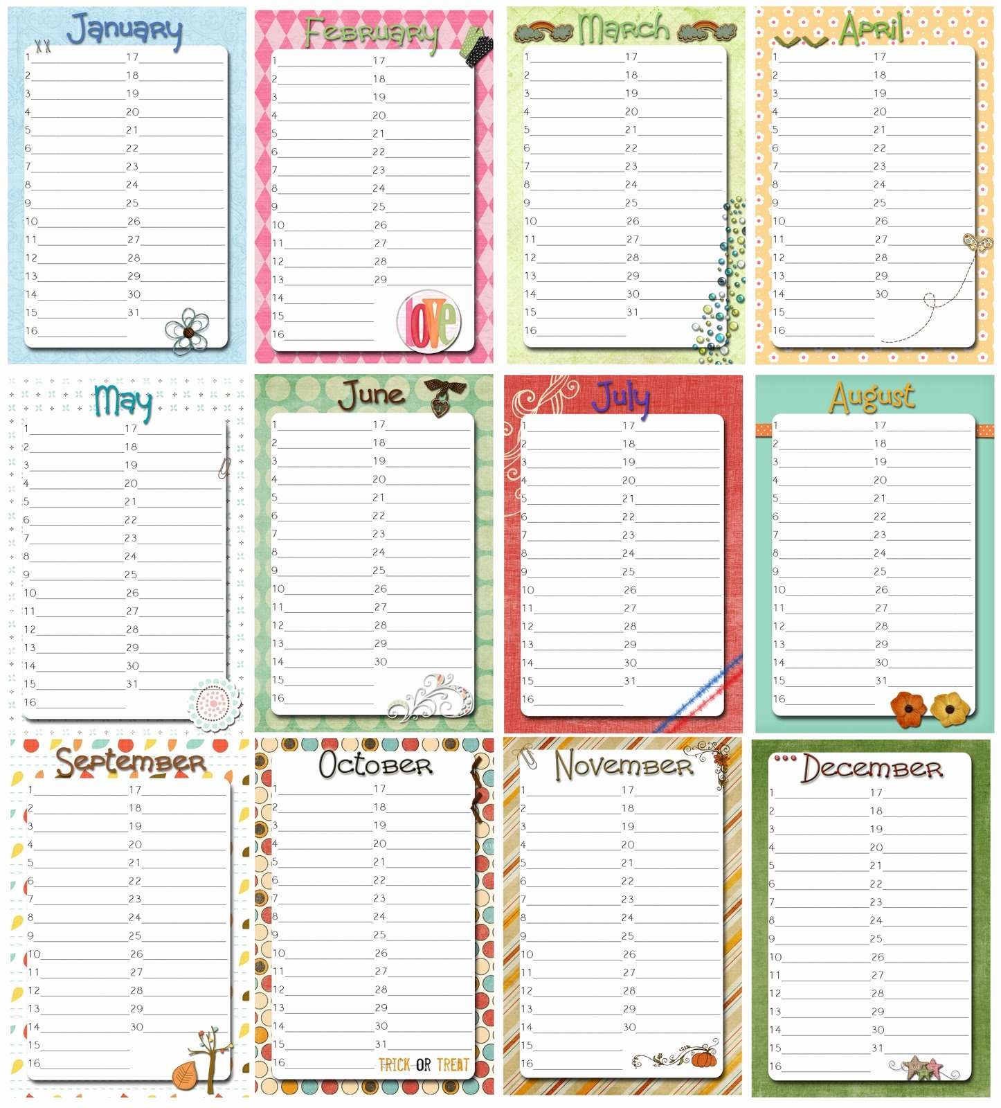 Printable Birthday Calendar Template Inspirational 8 Best Of Fice Birthday List Printable