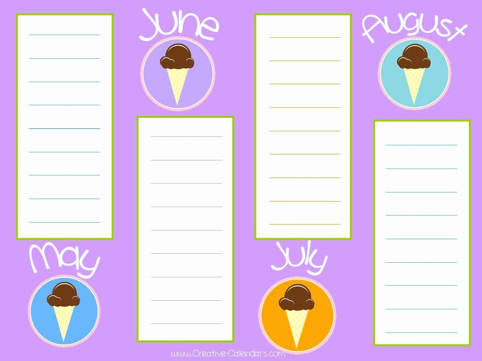 Printable Birthday Calendar Template Inspirational Free Printable Birthday Calendar Template