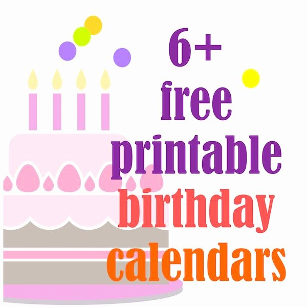 Printable Birthday Calendar Template Luxury 28 Best Printable Birthday Calendar Images On Pinterest