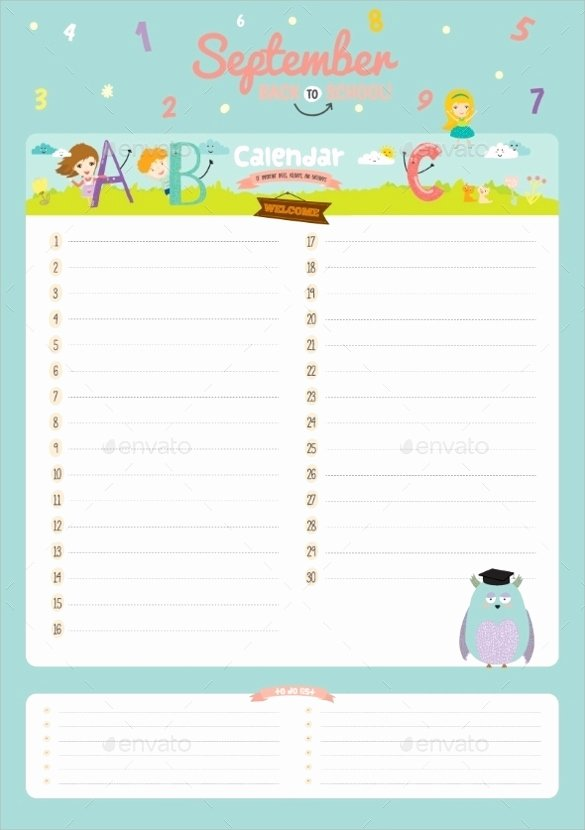 Printable Birthday Calendar Template Unique 8 Birthday Calendar Templates – Free Samples Examples
