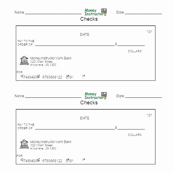Printable Blank Check Template Awesome Fake Check Template Checks for Presentations