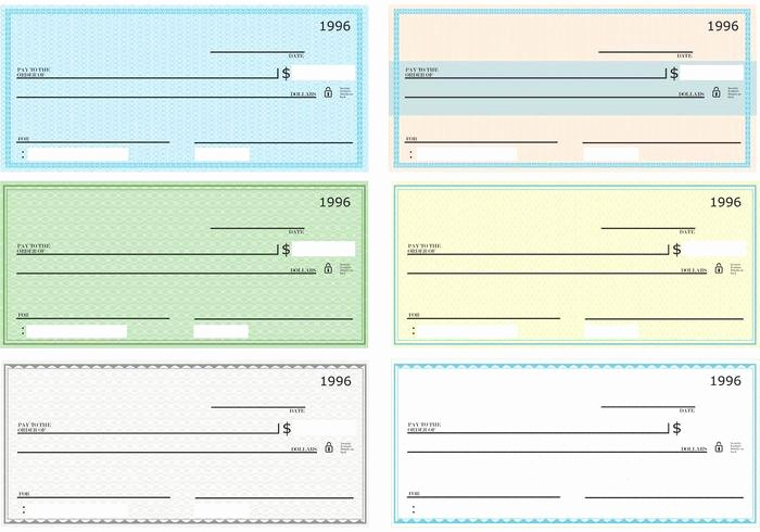 Printable Blank Check Template Beautiful Blank Check Vector Pack Download Free Vector Art Stock