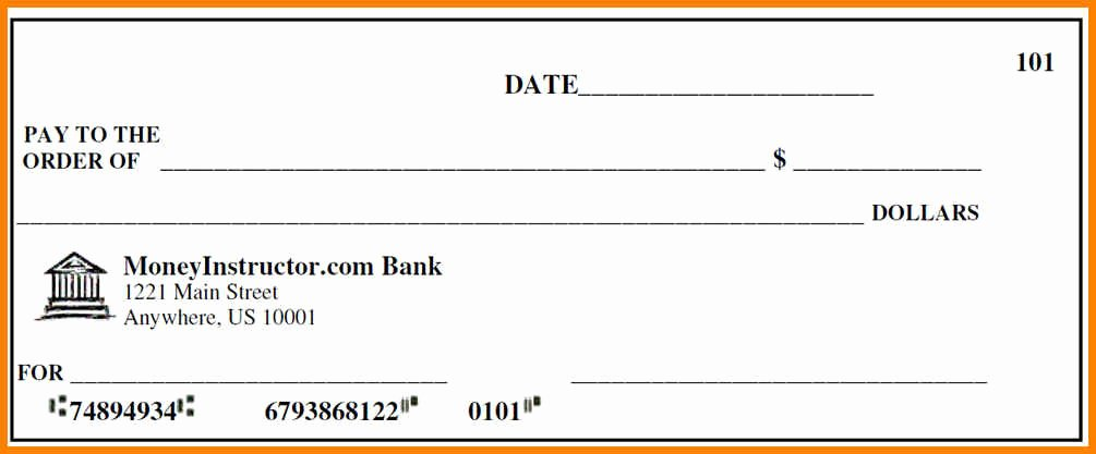 Printable Blank Check Template Best Of 10 Editable Blank Check Template