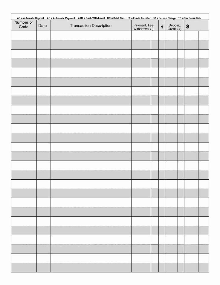Printable Blank Check Template Elegant Best 25 Checkbook Register Ideas On Pinterest