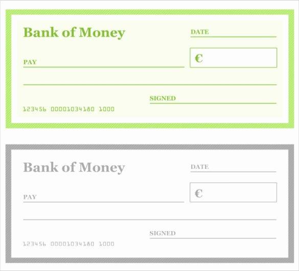 Printable Blank Check Template Elegant Blank Check Template – 30 Free Word Psd Pdf & Vector