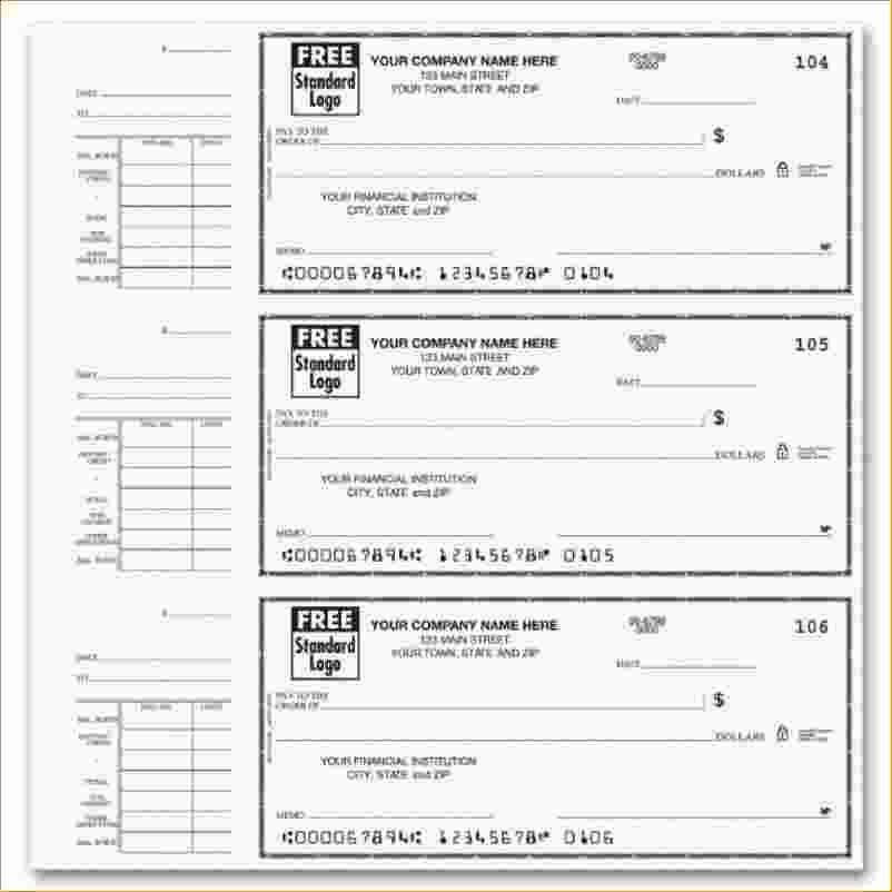 Printable Blank Check Template Elegant Free Fillable Payroll Stubs