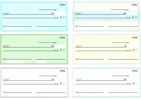 Printable Blank Check Template Fresh Printable Play Checks to Print Free Template Weekly