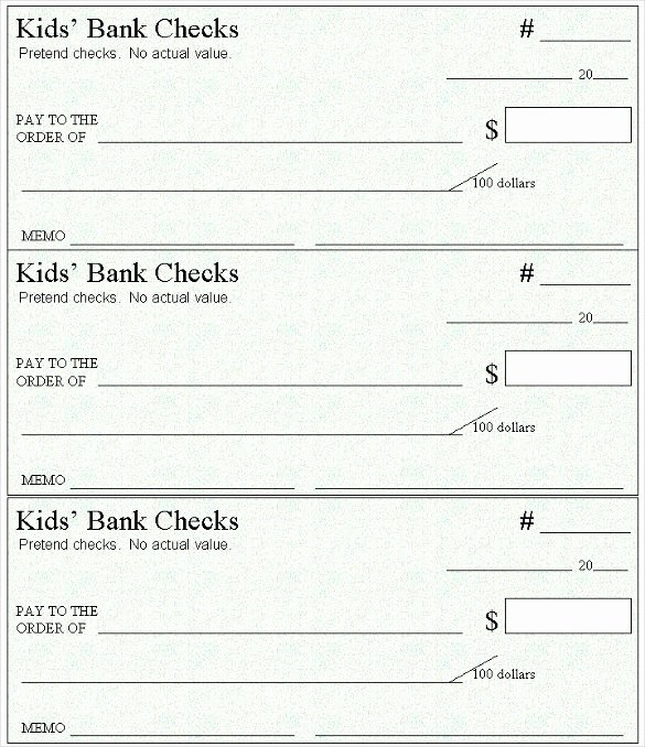 Printable Blank Check Template Inspirational Blank Check Template – 30 Free Word Psd Pdf & Vector