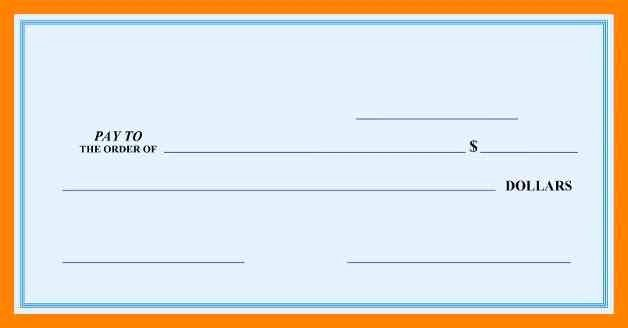 Printable Blank Check Template Inspirational Free Printable Big Check Template