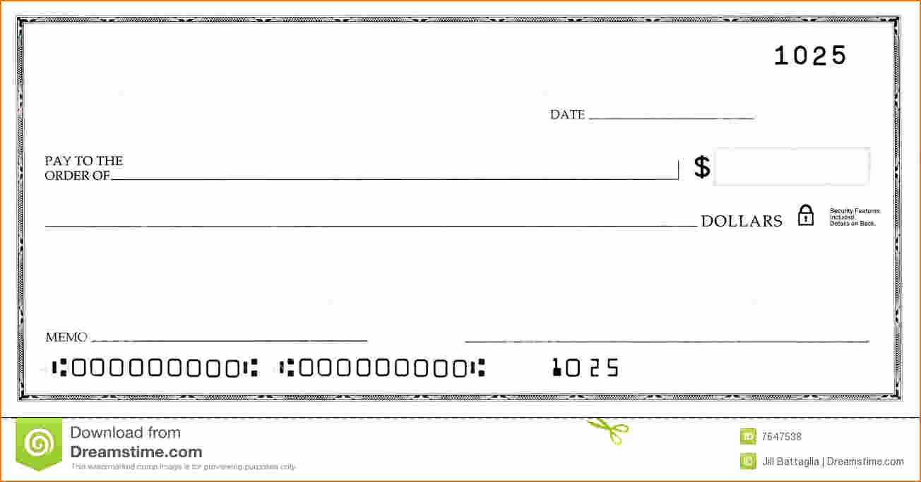 Printable Blank Check Template Lovely Blank Business Check Template
