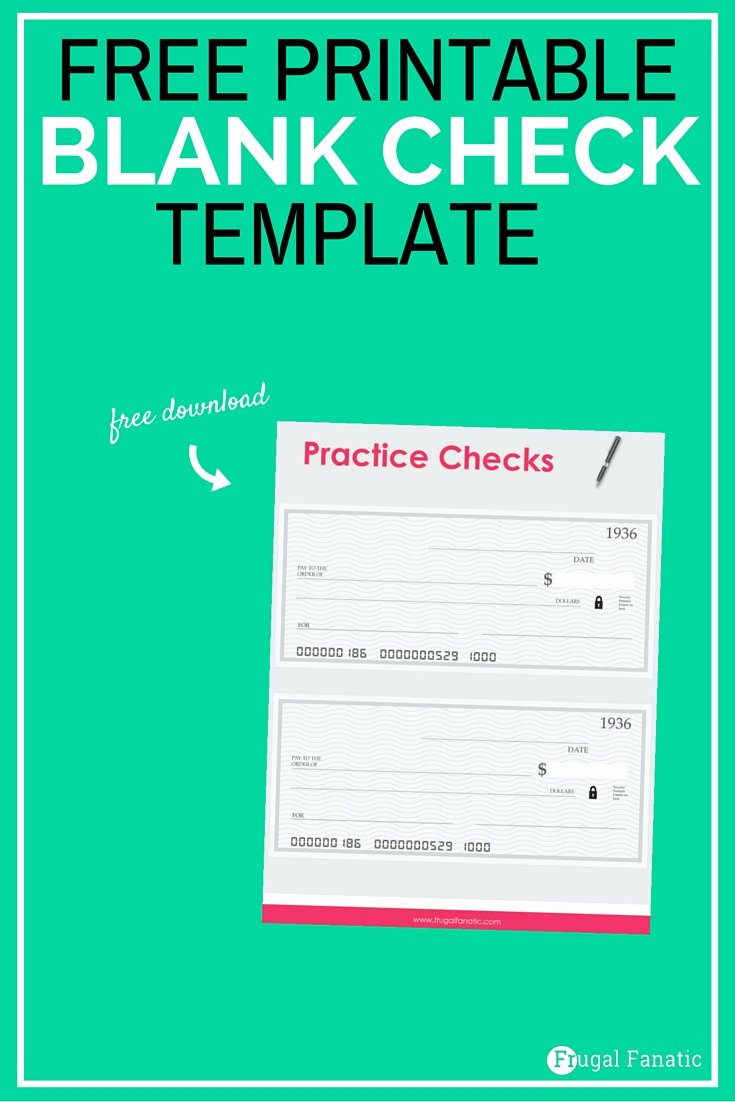 Printable Blank Check Template Lovely Blank Check Template Teaching Teens How to Manage Money