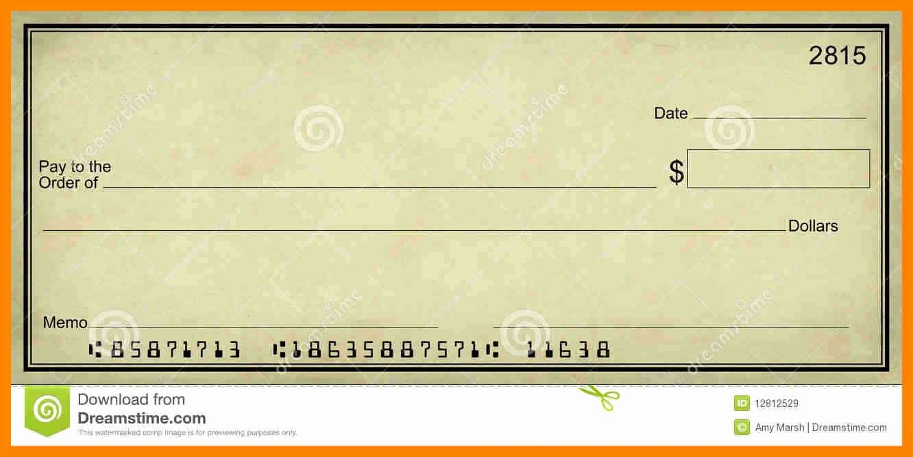 Printable Blank Check Template Lovely Blank Check Templates for Excel Cheque Template Pdf