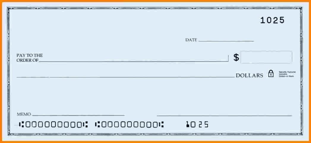 Printable Blank Check Template Lovely Blank Check Templates for Microsoft Word Templates