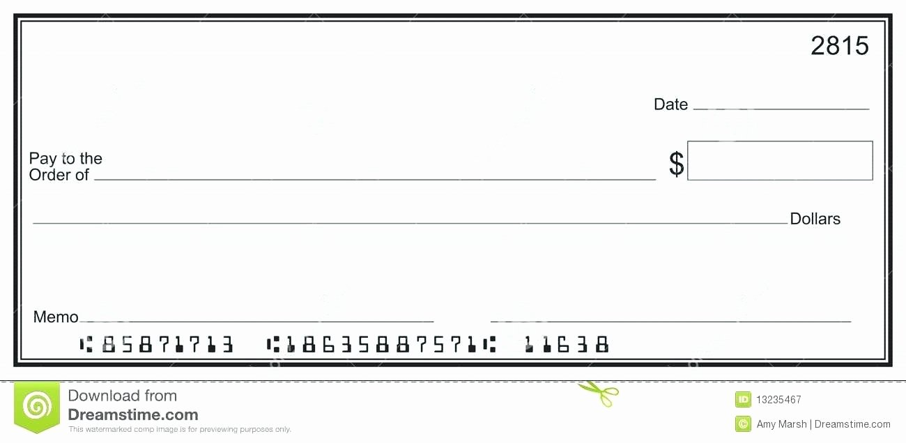 Printable Blank Check Template New Blank Cheques Template