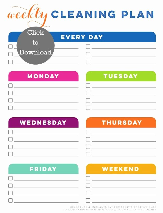 Printable Cleaning Schedule Template Best Of Best 25 Cleaning Schedule Templates Ideas On Pinterest