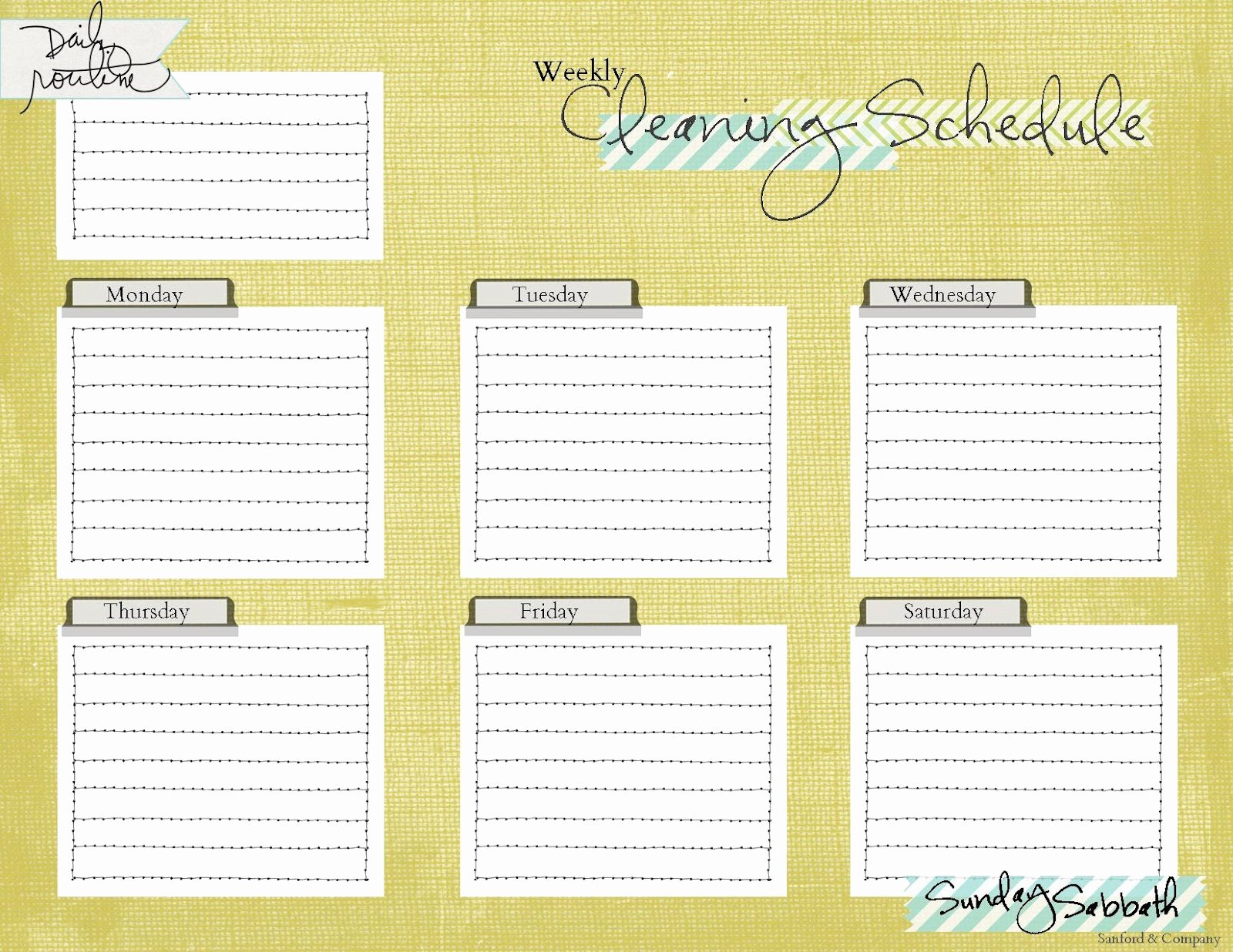 Printable Cleaning Schedule Template Elegant A Pile Of ashes Cleaning Schedule Printable Freebie