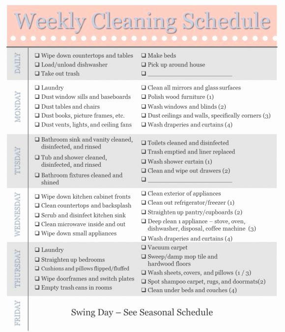 Printable Cleaning Schedule Template Luxury 25 Best Ideas About Schedule Templates On Pinterest