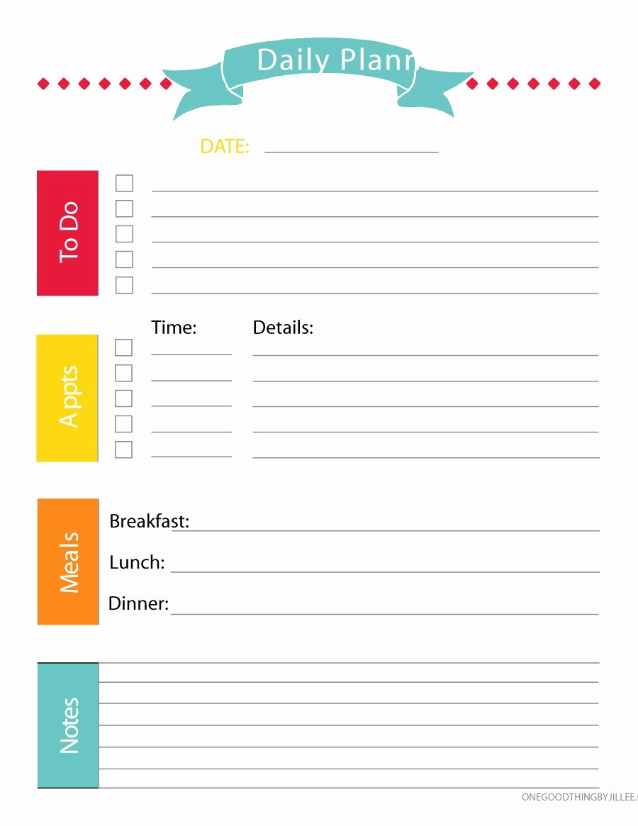 Printable Daily Schedule Template Awesome 40 Printable Daily Planner Templates Free Template Lab