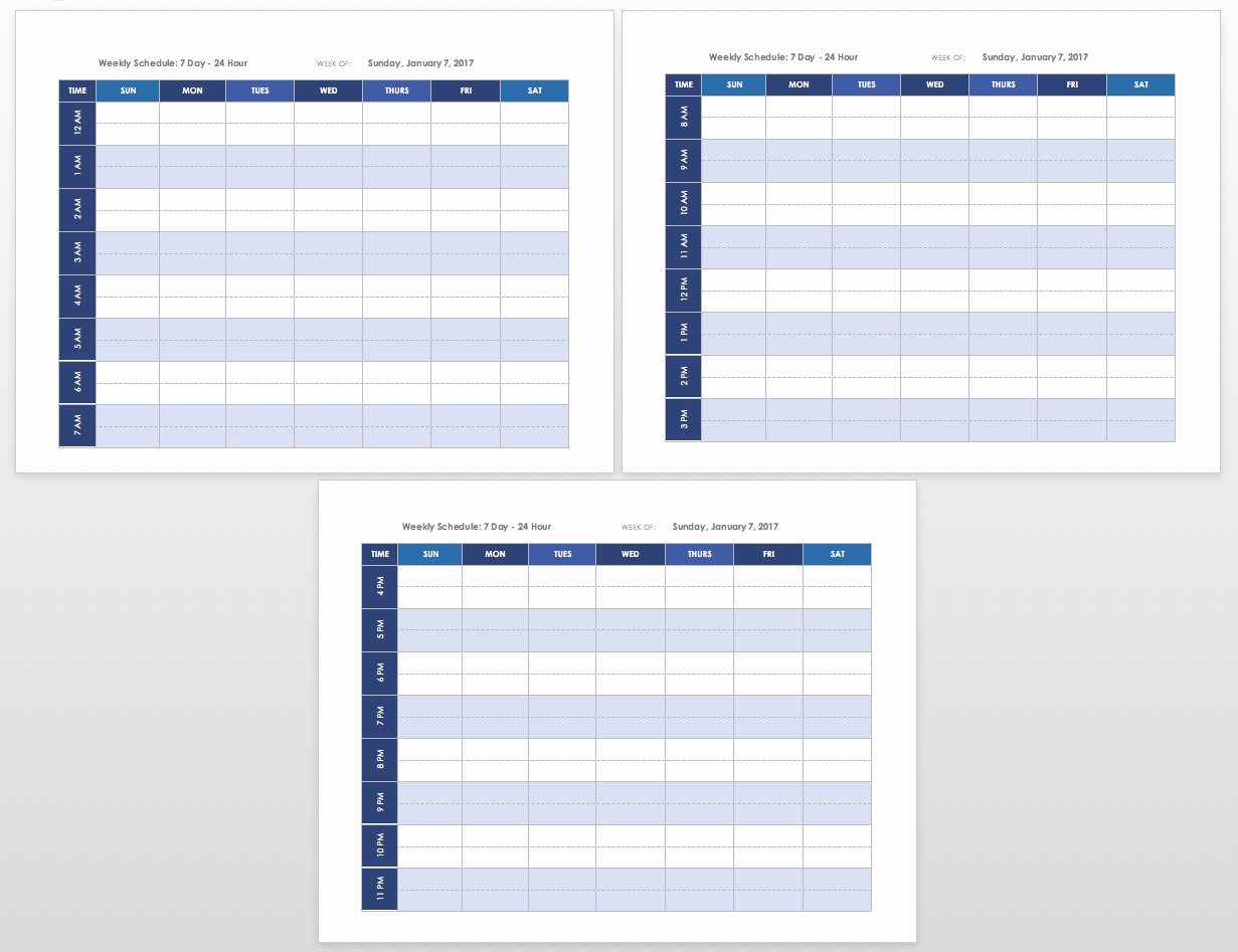 Printable Daily Schedule Template Awesome Free Blank Calendar Templates Smartsheet