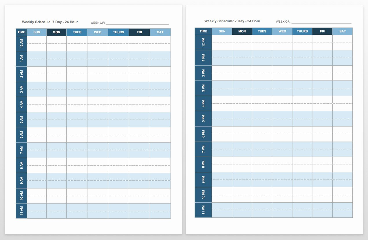 Printable Daily Schedule Template Best Of Free Blank Calendar Templates Smartsheet
