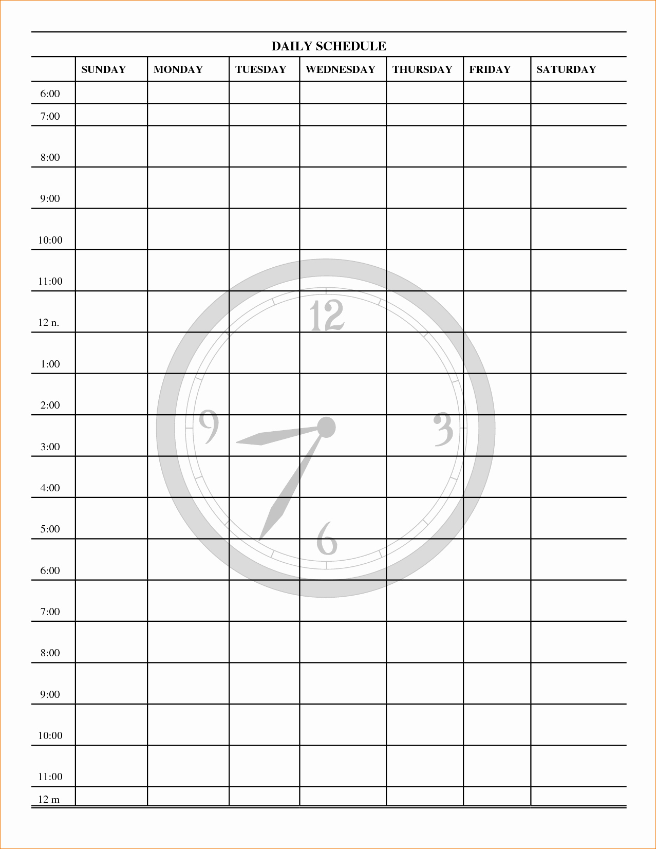 Printable Daily Schedule Template Inspirational 3 Daily Schedule Printable