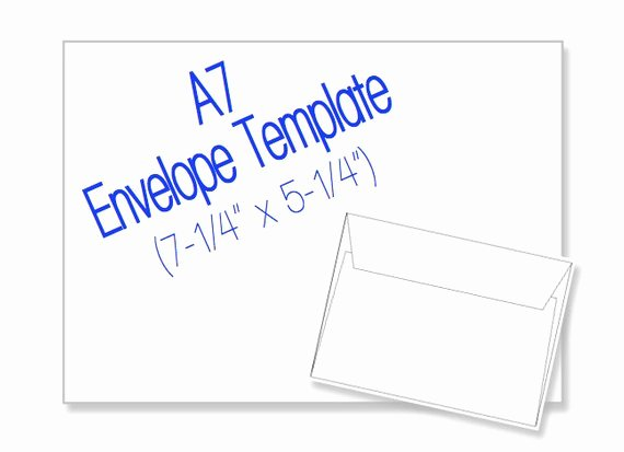 Printable Envelope Template Pdf Awesome A7 Envelope 7 1 4 X 5 1 4 Blank Di Heritageexpressions Su Etsy