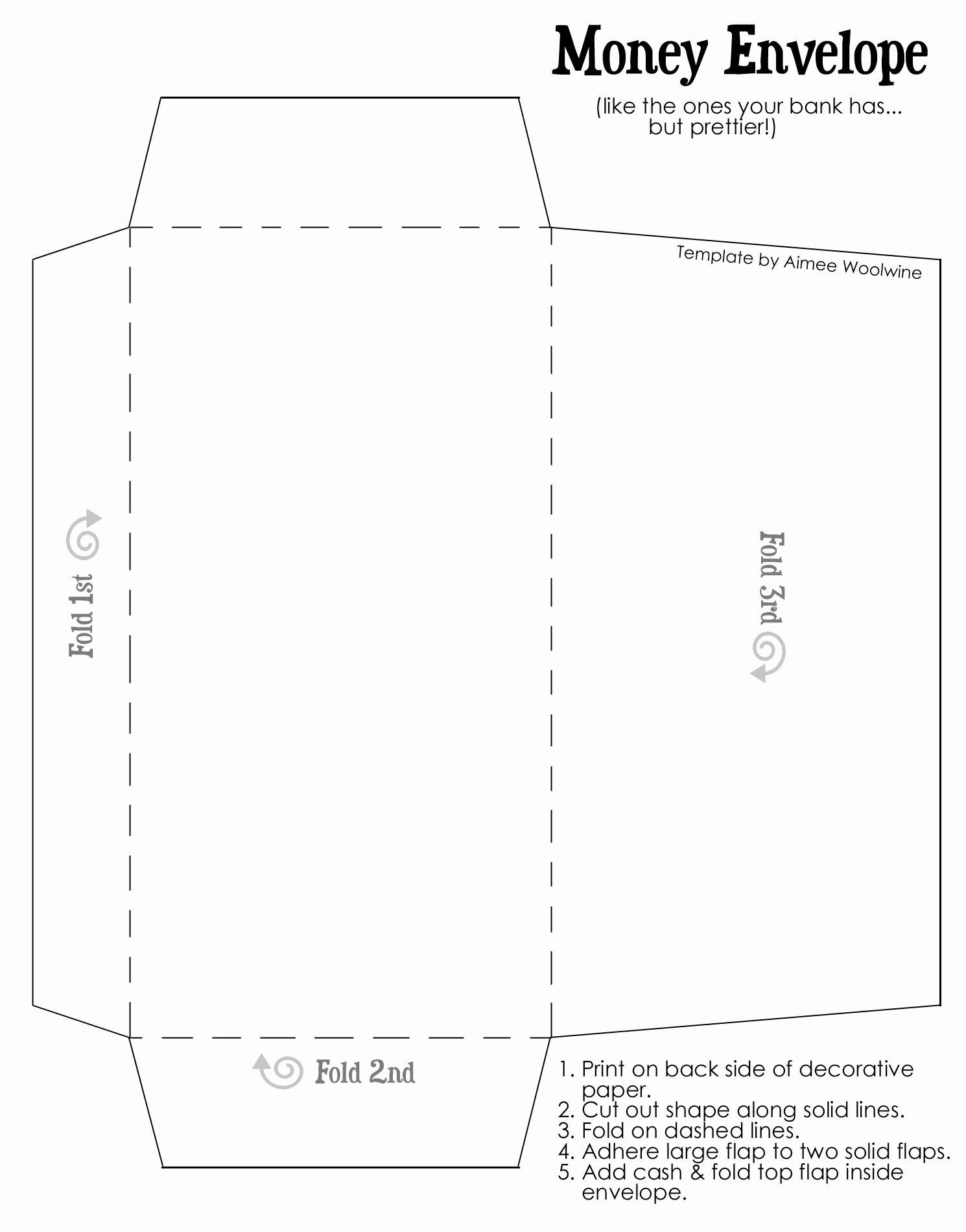Printable Envelope Template Pdf Elegant Cash Envelopes