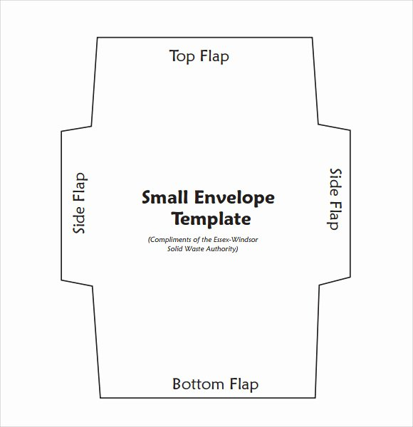 Printable Envelope Template Pdf Elegant Sample Small Envelope Template 7 Free Documents In Pdf