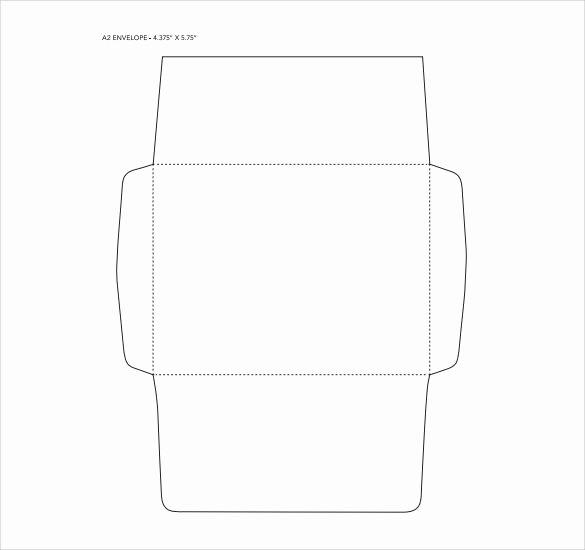 Printable Envelope Template Pdf Fresh 7 Sample A2 Envelopes