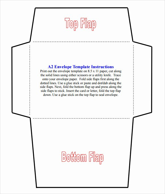 Printable Envelope Template Pdf Fresh 8 Sample A2 Envelope Templates