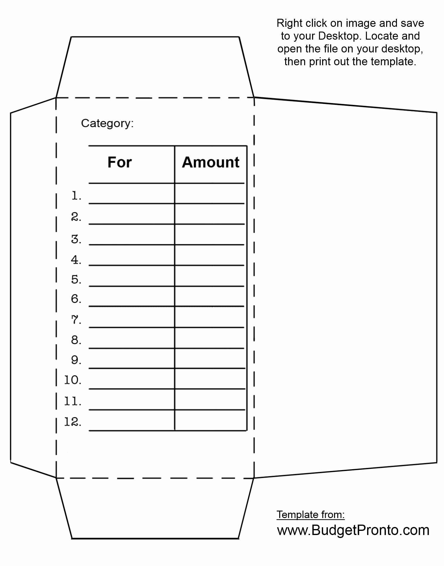 Printable Envelope Template Pdf Fresh Printable Money Envelopes Printable 360 Degree