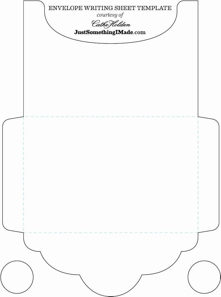 Printable Envelope Template Pdf Unique Blank Free Envelope Letter Trace & Cut then Fold Write
