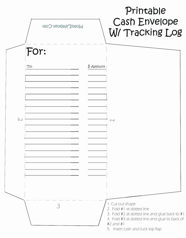 Printable Envelope Template Pdf Unique Printable Cash Envelopes Great Way to Stay On Bud