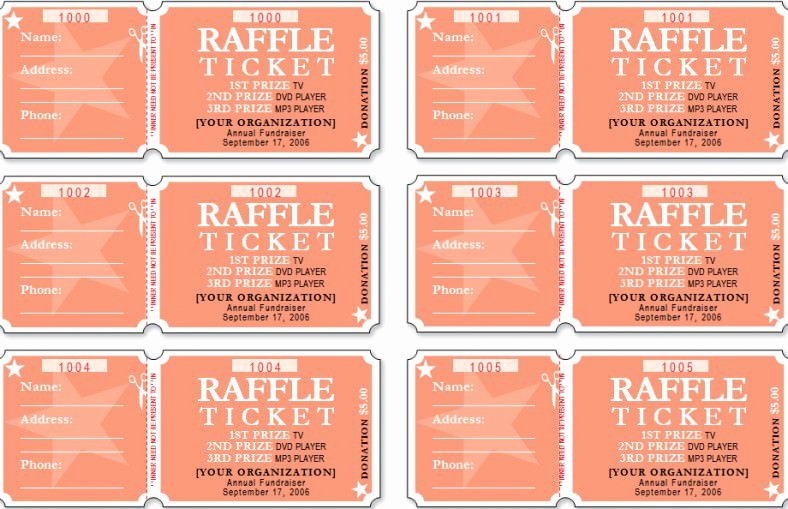 Printable event Ticket Template Free Beautiful 18 Sample Printable Raffle Ticket Templates Psd Ai