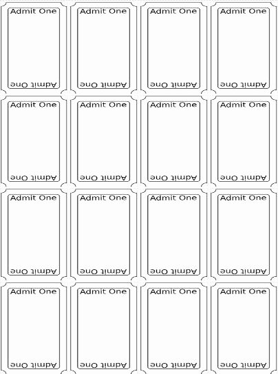 Printable event Ticket Template Free Beautiful Best 20 Ticket Template Ideas On Pinterest