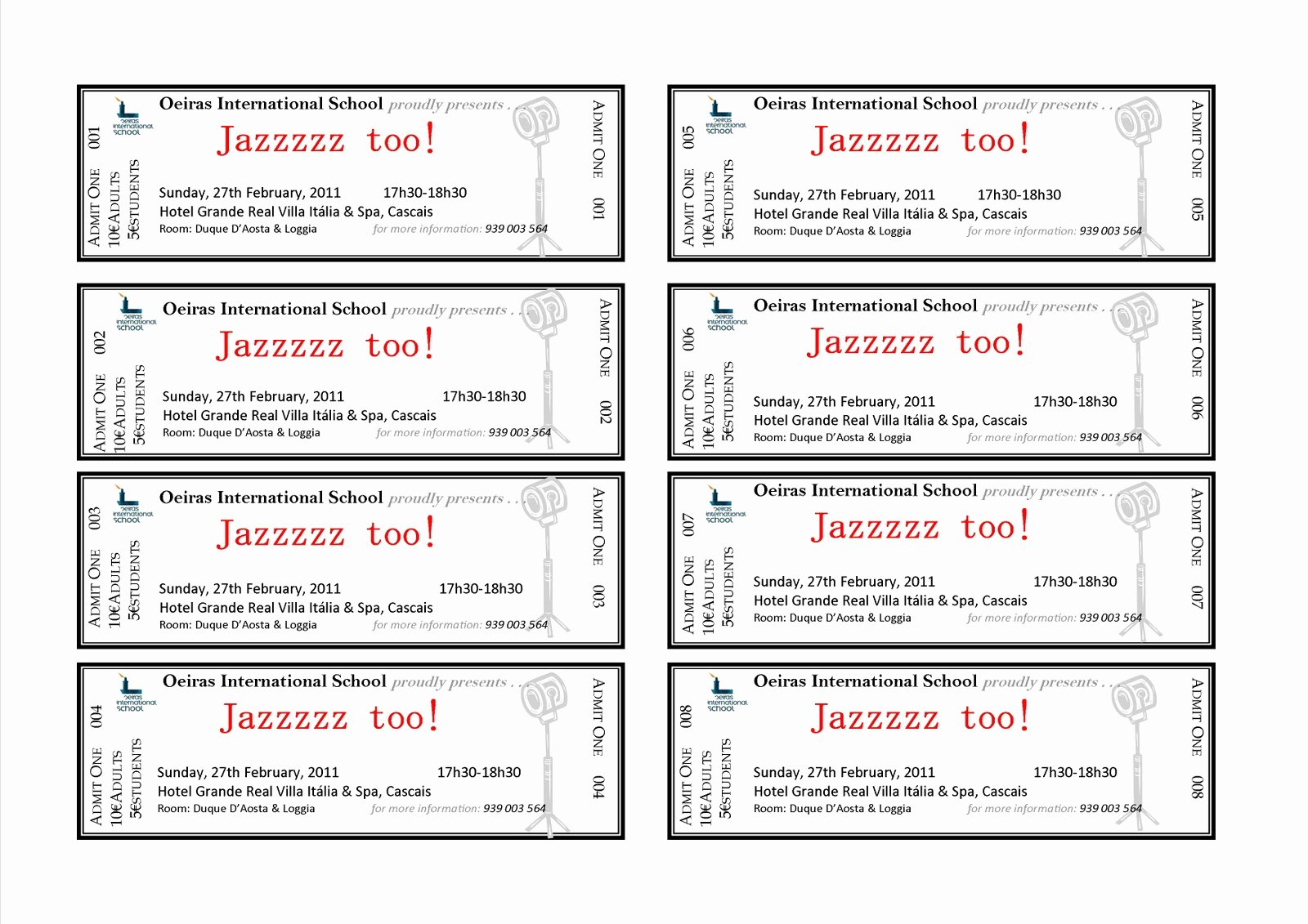 Printable event Ticket Template Free Beautiful event Ticket Template