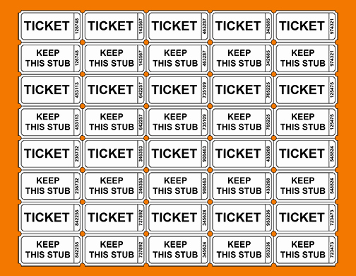 Printable event Ticket Template Free Best Of 3 Printable Raffle Ticket Template