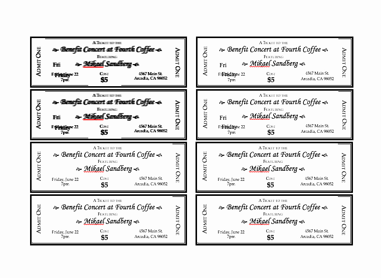 Printable event Ticket Template Free Best Of event Ticket Template Free Word